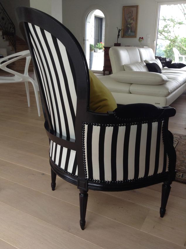 Relooking berg res noir et blanc dans l 39 air du temps - Relooker un fauteuil ...